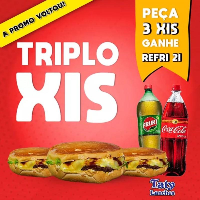 Triplo Xis + Refri 2L Grátis